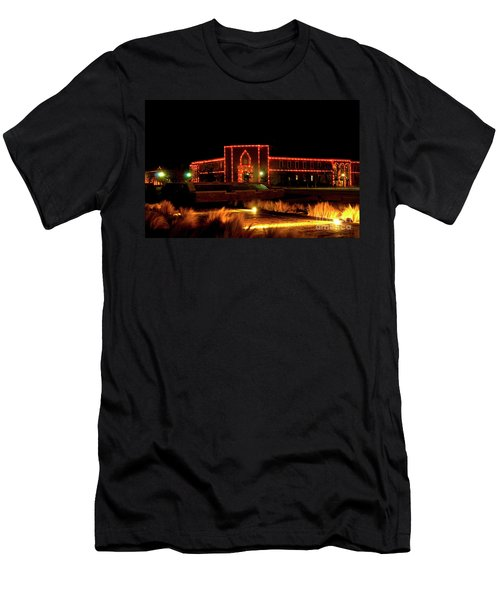 Men's T-Shirt (Athletic Fit) featuring the photograph Carol Of Lights At Science Building by Mae Wertz