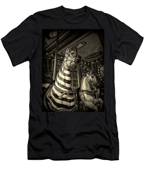 Carousel Zebra Men's T-Shirt (Athletic Fit)
