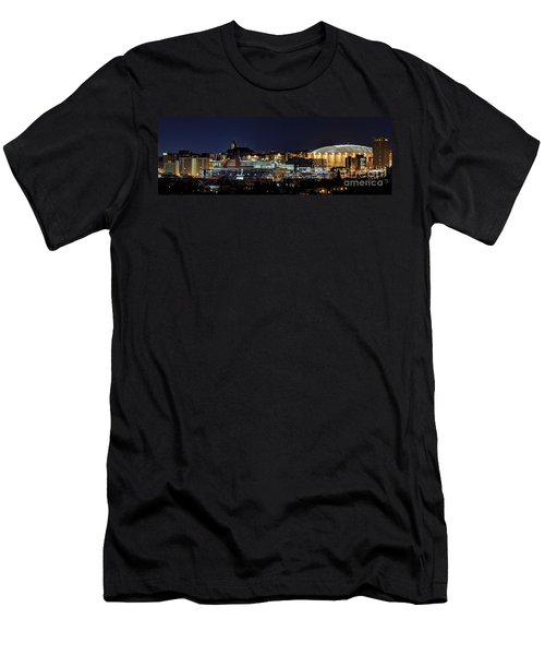 Carrier Dome And Syracuse Skyline Panoramic View Men's T-Shirt (Athletic Fit)