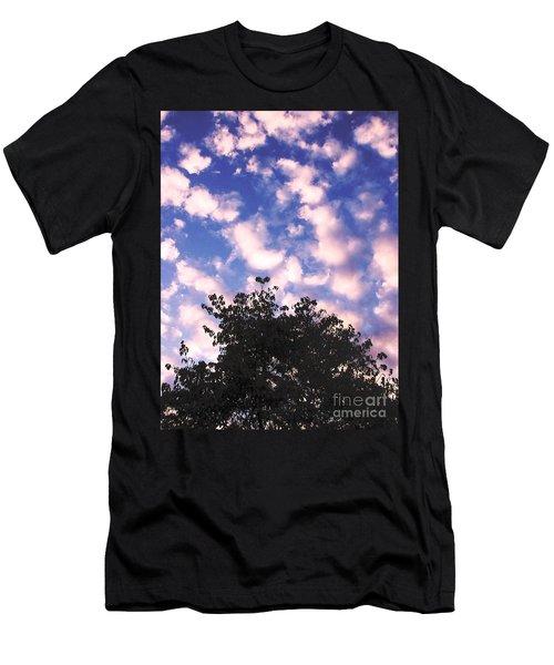 Cartoon Clouds Men's T-Shirt (Slim Fit) by Melissa Stoudt