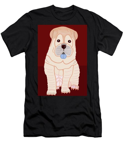 Cartoon Shar Pei Men's T-Shirt (Athletic Fit)