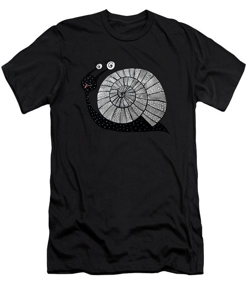 Cartoon Snail With Spiral Eyes Men's T-Shirt (Athletic Fit)