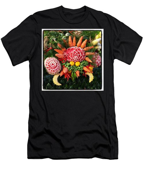 Men's T-Shirt (Athletic Fit) featuring the photograph Carved Watermelon, And I Think Those by Mr Photojimsf