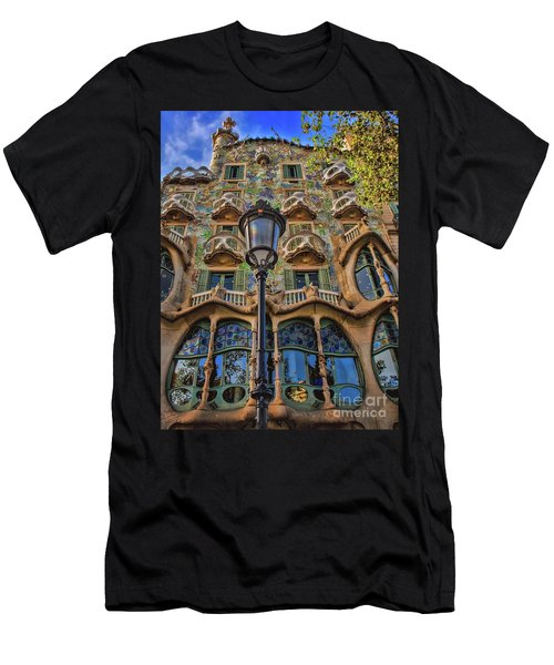 Casa Batllo Gaudi Men's T-Shirt (Slim Fit) by Henry Kowalski
