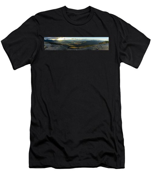 Cascade Mountain Sunset Men's T-Shirt (Athletic Fit)