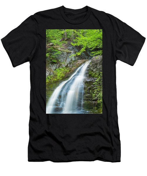 Cascade Waterfalls In South Maine Men's T-Shirt (Athletic Fit)