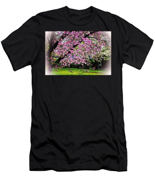 Cascading Dogwood Copyright Mary Lee Parker 17, Men's T-Shirt (Slim Fit) by MaryLee Parker