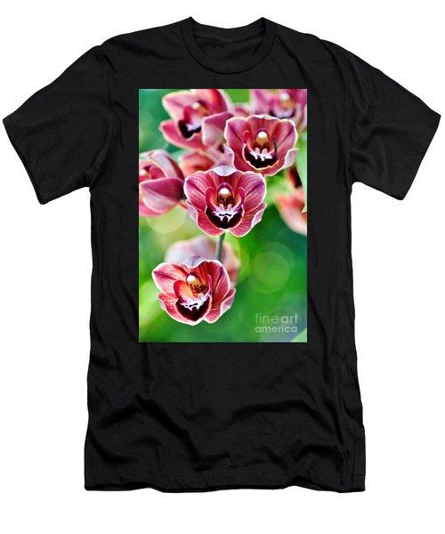 Cascading Miniature Orchids Men's T-Shirt (Athletic Fit)