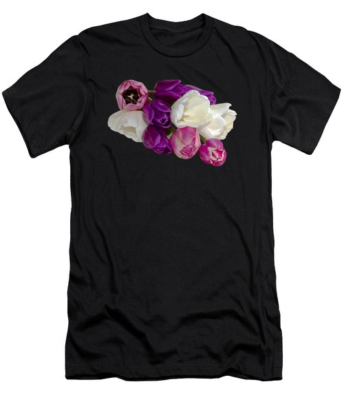 Cascading Tulips Men's T-Shirt (Athletic Fit)