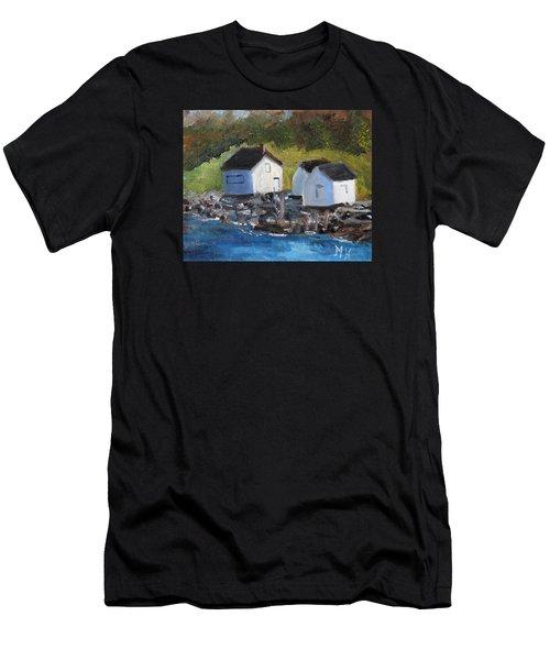 Casco Bay Boat Houses Men's T-Shirt (Athletic Fit)