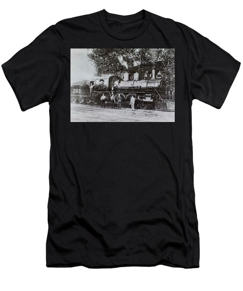 Men's T-Shirt (Athletic Fit) featuring the photograph Casey Jones Engine  by Jeanne May