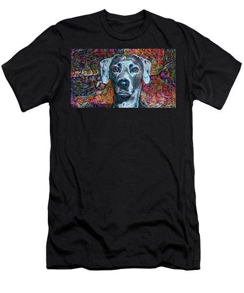 Cash The Blue Lacy Dog Men's T-Shirt (Athletic Fit)