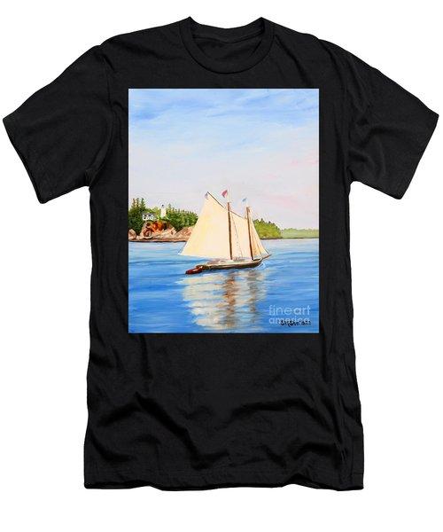 Castine Harbor And Dice Head Light Men's T-Shirt (Athletic Fit)