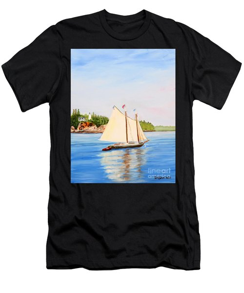 Castine Harbor And Dice Head Light Men's T-Shirt (Athletic Fit)