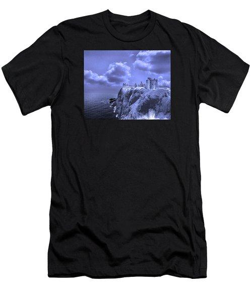 Castle Blue Men's T-Shirt (Athletic Fit)