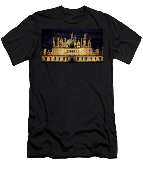 Men's T-Shirt (Slim Fit) featuring the photograph Castle Chambord Illuminated by Heiko Koehrer-Wagner
