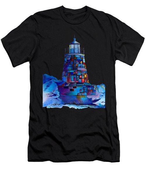 Castle Hill Newport Lighthouse Men's T-Shirt (Athletic Fit)