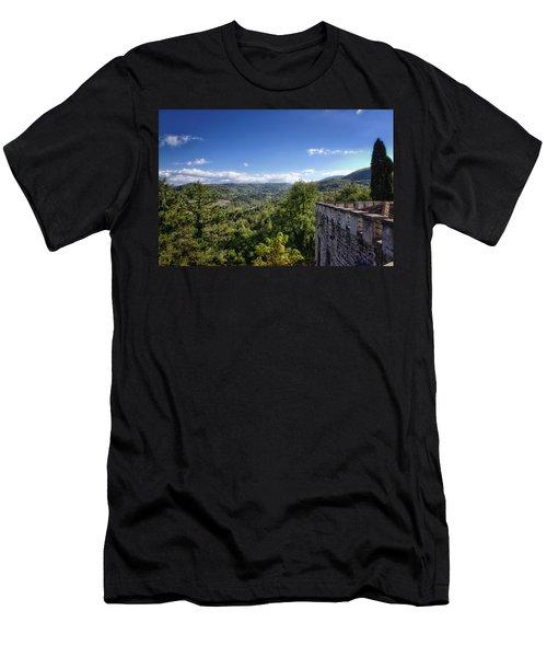Castle In Chianti, Italy Men's T-Shirt (Athletic Fit)