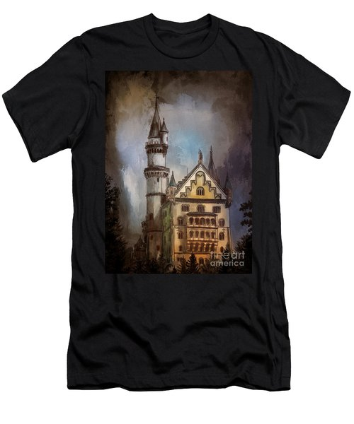 Men's T-Shirt (Slim Fit) featuring the painting Castle Neuschwanstein by Andrzej Szczerski