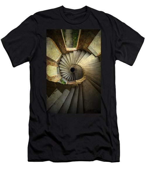 Men's T-Shirt (Athletic Fit) featuring the photograph Castle Of Unfinished Dreams by Jaroslaw Blaminsky