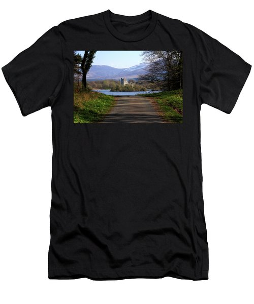 Men's T-Shirt (Athletic Fit) featuring the photograph Castle On The Lakes by Aidan Moran
