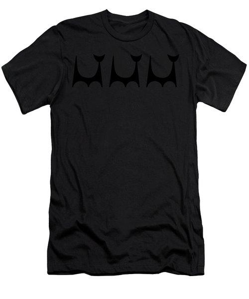 Cat 2 Trio Transparent Men's T-Shirt (Athletic Fit)