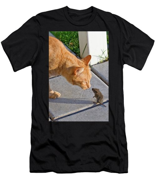 Men's T-Shirt (Athletic Fit) featuring the photograph Cat And Mouse by Wesley Aston