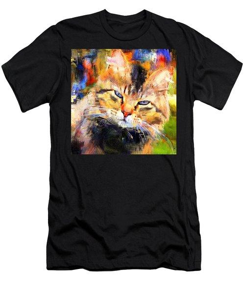 Cat Color Men's T-Shirt (Athletic Fit)