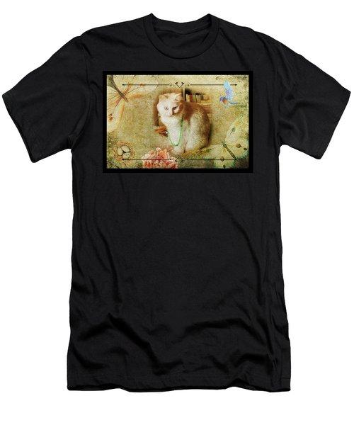 Kitty Cat Composite Art II Men's T-Shirt (Athletic Fit)
