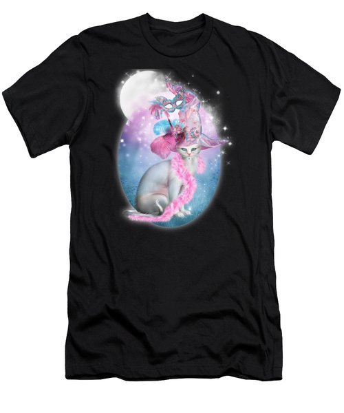 Cat In Fancy Witch Hat 4 Men's T-Shirt (Athletic Fit)