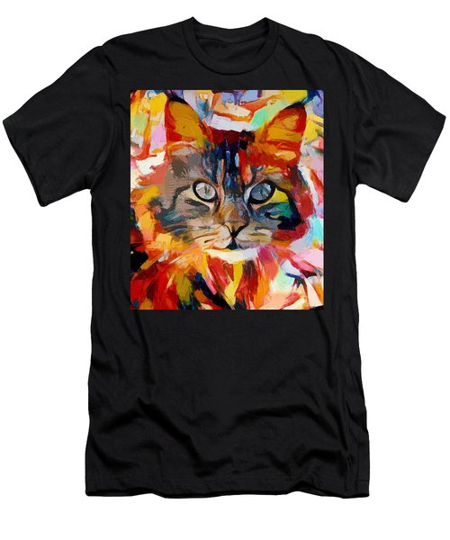 Cat In Fire Men's T-Shirt (Athletic Fit)