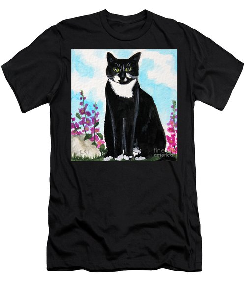 Cat In The Garden Men's T-Shirt (Athletic Fit)