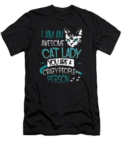 Cat Lady Men's T-Shirt (Athletic Fit)