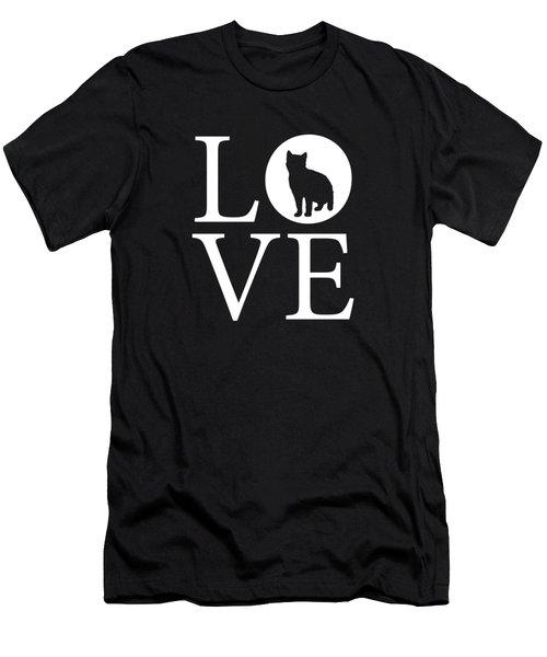 Cat Love Men's T-Shirt (Athletic Fit)