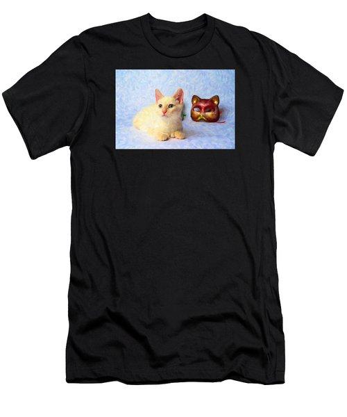 Cat Mask Men's T-Shirt (Athletic Fit)