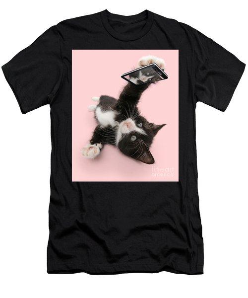 Cat Selfie Men's T-Shirt (Athletic Fit)
