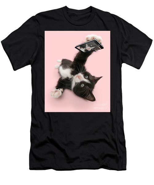 Cat Selfie Men's T-Shirt (Athletic Fit)