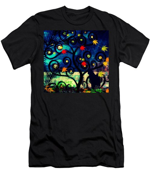 Cat Watch  Men's T-Shirt (Slim Fit) by Kim Prowse
