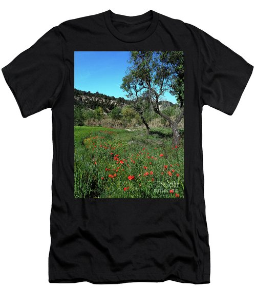 Catalan Countryside In Spring Men's T-Shirt (Slim Fit) by Don Pedro De Gracia
