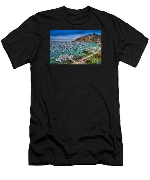 Catalina Island  Avalon Harbor Men's T-Shirt (Athletic Fit)