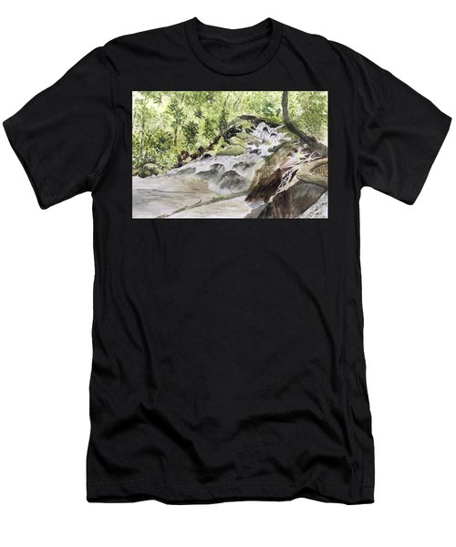 Catawba Falls - A Watercolor Sketch Men's T-Shirt (Athletic Fit)