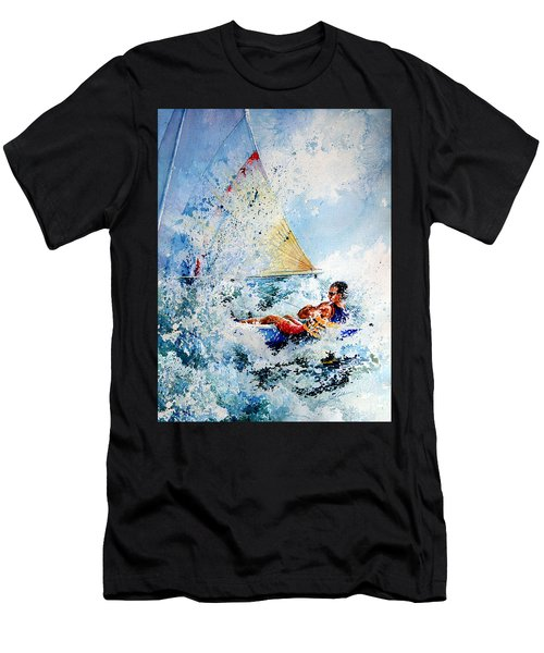 Men's T-Shirt (Athletic Fit) featuring the painting Catch The Wind by Hanne Lore Koehler