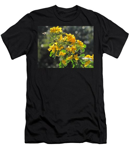 Catchlight Bee Over Yellow Blooms Men's T-Shirt (Athletic Fit)