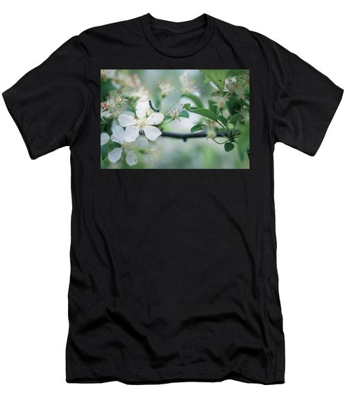 Caterpillar On A Tree Blossom Men's T-Shirt (Athletic Fit)
