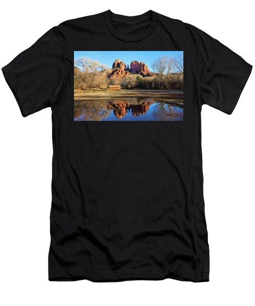 Cathedral Rock, Sedona Men's T-Shirt (Slim Fit) by Barbara Manis