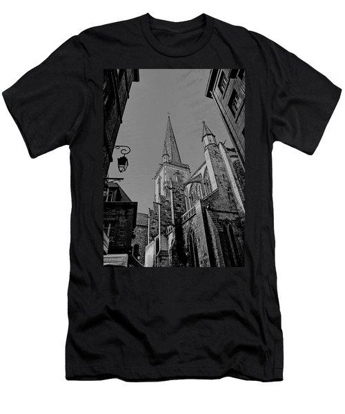 Men's T-Shirt (Athletic Fit) featuring the photograph Cathedrale St. Vincent  by Elf Evans