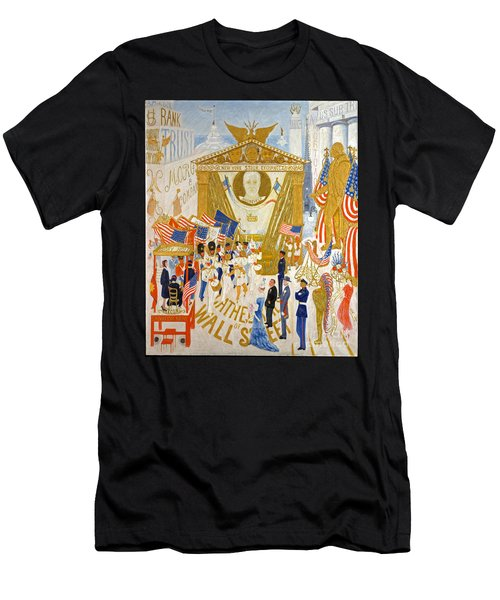 The Cathedrals Of Wall Street - History Repeats Itself Men's T-Shirt (Slim Fit) by John Stephens