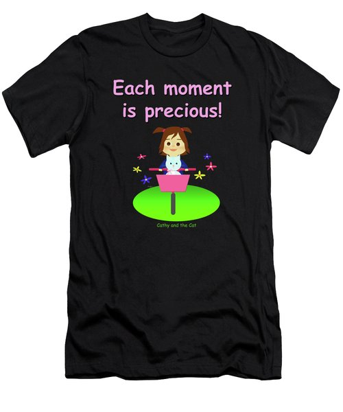 Cathy And The Cat Enjoy Each Moment Men's T-Shirt (Athletic Fit)