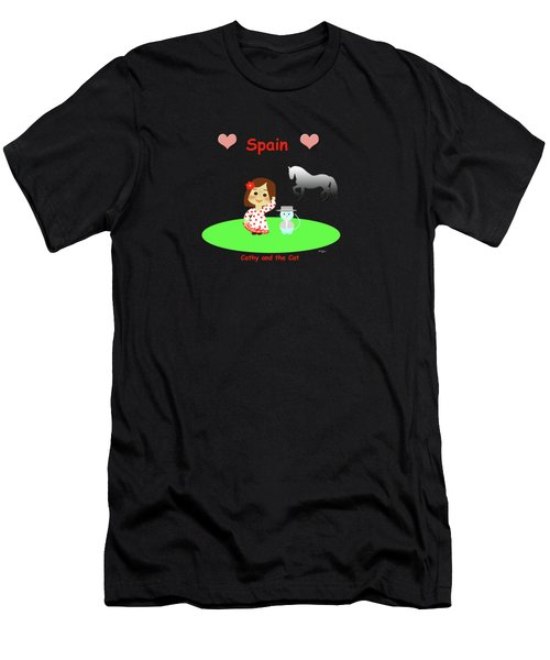 Cathy And The Cat In Spain Men's T-Shirt (Athletic Fit)