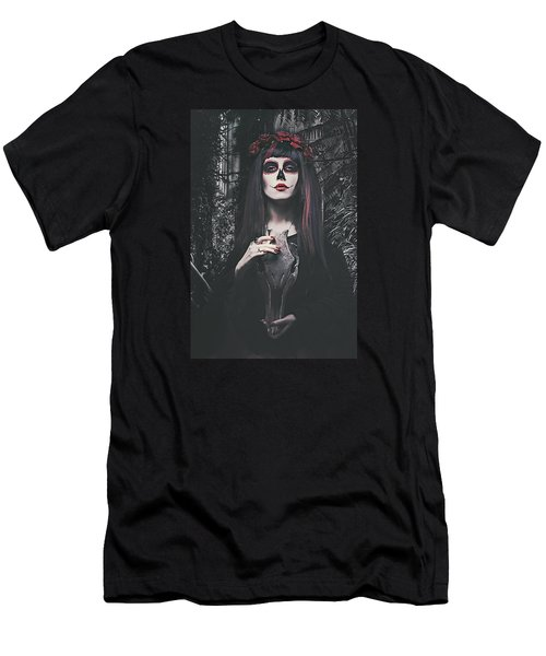Catrina Day Of The Dead Men's T-Shirt (Slim Fit) by Galen Valle